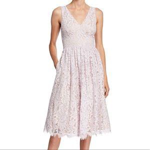 Eliza J • Eyelash Lace Double V Midi Dress…